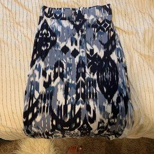 Blue Marled Maxi Skirt